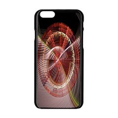 Fractal Fabric Ball Isolated On Black Background Apple Iphone 6/6s Black Enamel Case