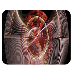 Fractal Fabric Ball Isolated On Black Background Double Sided Flano Blanket (Medium)