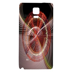 Fractal Fabric Ball Isolated On Black Background Galaxy Note 4 Back Case