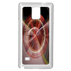 Fractal Fabric Ball Isolated On Black Background Samsung Galaxy Note 4 Case (white)