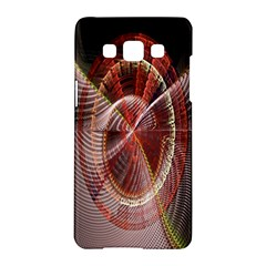 Fractal Fabric Ball Isolated On Black Background Samsung Galaxy A5 Hardshell Case