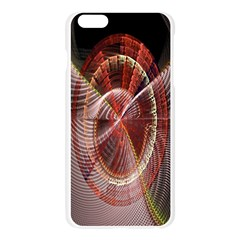 Fractal Fabric Ball Isolated On Black Background Apple Seamless iPhone 6 Plus/6S Plus Case (Transparent)
