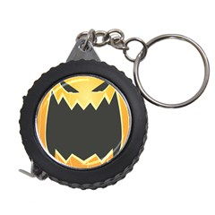 Halloween Pumpkin Orange Mask Face Sinister Eye Black Measuring Tapes