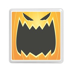 Halloween Pumpkin Orange Mask Face Sinister Eye Black Memory Card Reader (Square)