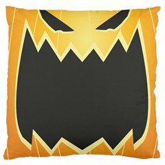 Halloween Pumpkin Orange Mask Face Sinister Eye Black Large Cushion Case (Two Sides)