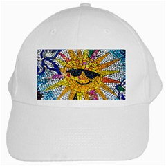 Sun From Mosaic Background White Cap