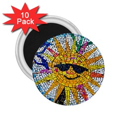 Sun From Mosaic Background 2.25  Magnets (10 pack)