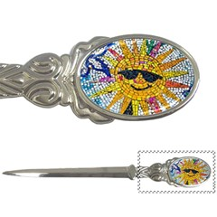Sun From Mosaic Background Letter Openers