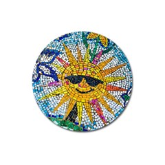 Sun From Mosaic Background Magnet 3  (Round)