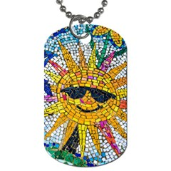 Sun From Mosaic Background Dog Tag (One Side)