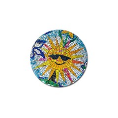 Sun From Mosaic Background Golf Ball Marker (4 pack)