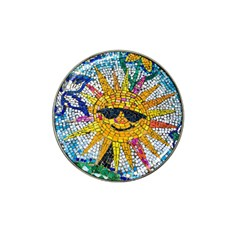 Sun From Mosaic Background Hat Clip Ball Marker
