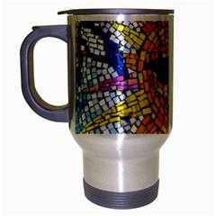 Sun From Mosaic Background Travel Mug (silver Gray)