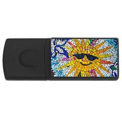 Sun From Mosaic Background USB Flash Drive Rectangular (4 GB)