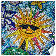 Sun From Mosaic Background Canvas 12  x 12