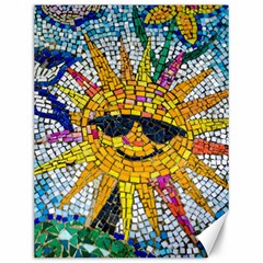 Sun From Mosaic Background Canvas 12  X 16