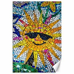 Sun From Mosaic Background Canvas 12  X 18