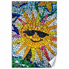 Sun From Mosaic Background Canvas 20  x 30