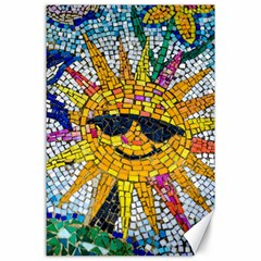 Sun From Mosaic Background Canvas 24  x 36