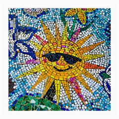 Sun From Mosaic Background Medium Glasses Cloth (2-Side)