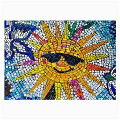Sun From Mosaic Background Large Glasses Cloth