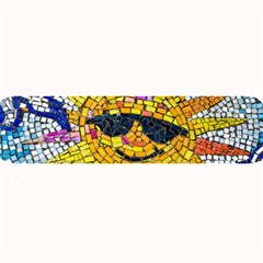 Sun From Mosaic Background Large Bar Mats