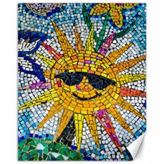 Sun From Mosaic Background Canvas 11  X 14
