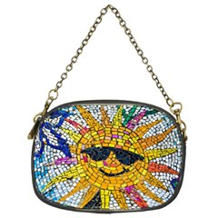 Sun From Mosaic Background Chain Purses (Two Sides)