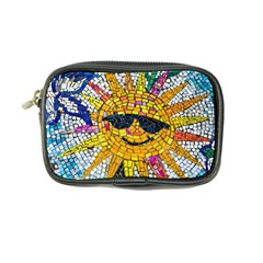 Sun From Mosaic Background Coin Purse