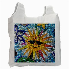 Sun From Mosaic Background Recycle Bag (One Side)