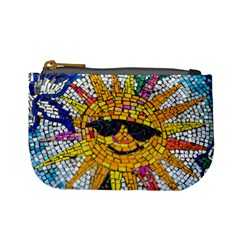 Sun From Mosaic Background Mini Coin Purses