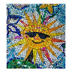Sun From Mosaic Background Shower Curtain 66  x 72  (Large)