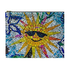 Sun From Mosaic Background Cosmetic Bag (xl)