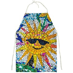 Sun From Mosaic Background Full Print Aprons