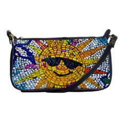Sun From Mosaic Background Shoulder Clutch Bags