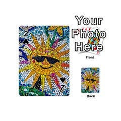 Sun From Mosaic Background Playing Cards 54 (Mini)