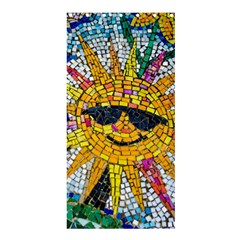 Sun From Mosaic Background Shower Curtain 36  X 72  (stall)
