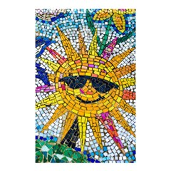 Sun From Mosaic Background Shower Curtain 48  X 72  (small)