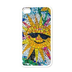 Sun From Mosaic Background Apple iPhone 4 Case (White)