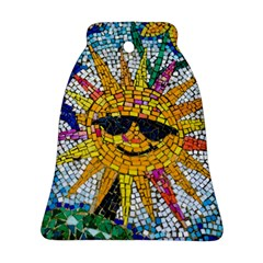 Sun From Mosaic Background Bell Ornament (Two Sides)