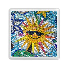 Sun From Mosaic Background Memory Card Reader (Square)