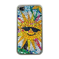 Sun From Mosaic Background Apple iPhone 4 Case (Clear)