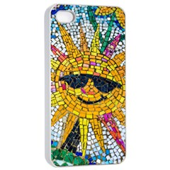 Sun From Mosaic Background Apple Iphone 4/4s Seamless Case (white)