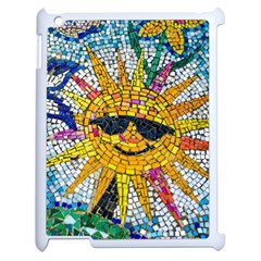 Sun From Mosaic Background Apple iPad 2 Case (White)