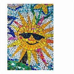 Sun From Mosaic Background Small Garden Flag (Two Sides)