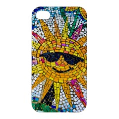 Sun From Mosaic Background Apple Iphone 4/4s Premium Hardshell Case