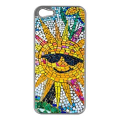 Sun From Mosaic Background Apple Iphone 5 Case (silver)