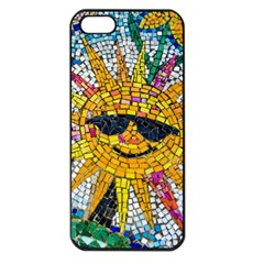 Sun From Mosaic Background Apple iPhone 5 Seamless Case (Black)