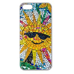 Sun From Mosaic Background Apple Seamless Iphone 5 Case (clear)