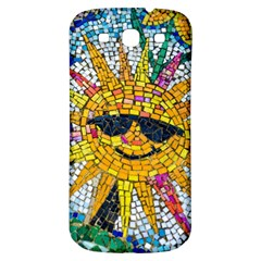 Sun From Mosaic Background Samsung Galaxy S3 S III Classic Hardshell Back Case